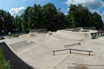 Banked area at Bowie slatepark