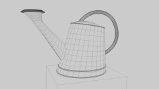 Image of Burpee Pot 3D wireframe render