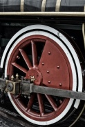 Tight shot of train wheel