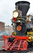 Front shot of locomotive.