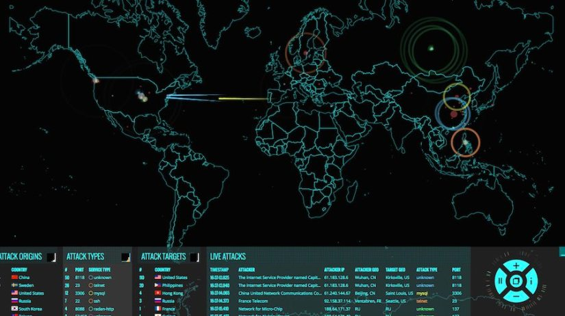 A Visualization of Cyber Attacks in Real-time