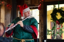Nothing beats an elf with a flute playing the Peanuts theme song on a Civil War era steam train!